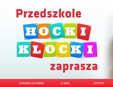 Strona internetowa dla przesdzkola HOCKI-KLOCKI