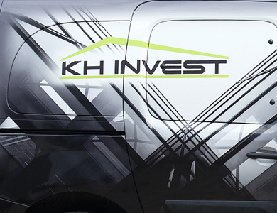KH-INVEST, projekt oklejania samochodu.